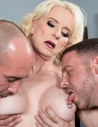 Nurse Cammille gets ass-fucked by two guys
